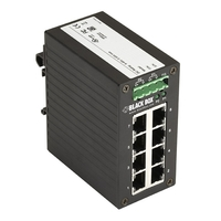 LGH008A: -10 to +70° C, 10/100/1000Mbps RJ-45 (8), デュアル DC 電源