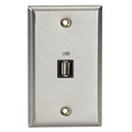 A/V Stainless Wallplate, Single-Gang