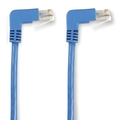 SpaceGAIN CAT6 250-MHz Ethernet Patch Cable – Molded Angled Boots, Unshielded (UTP)