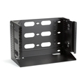 "12"" Wallmount Rack with Swing Bracket and Adjustable Shelf"