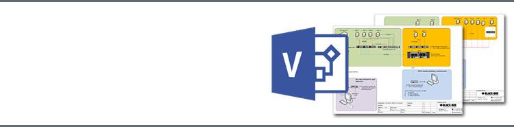 Download complete package of Black Box stencils for Microsoft Visio
